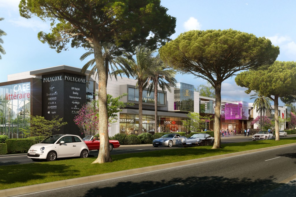 Rendering of the open-air Polygone Riviera, slated to open in fall 2015.