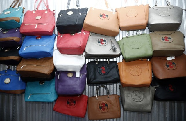 Knockoff Gucci and Chanel bags were among the goods seized.