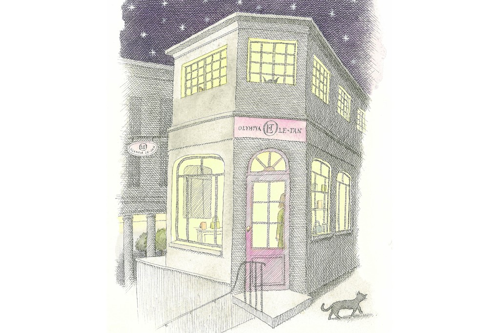 Sketch of Olympia Le-Tan's first boutique