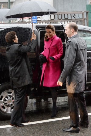 The Duchess of Cambridge in Mulberry, visits The Door in New York.