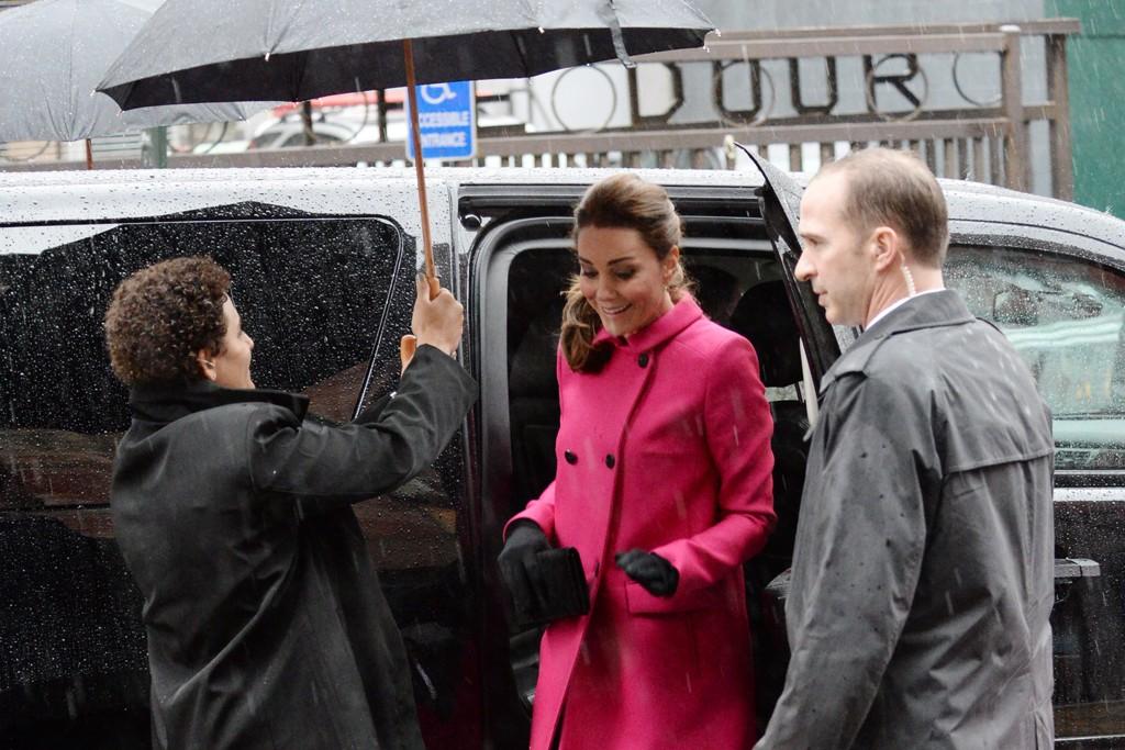 The Duchess of Cambridge in Mulberry, visits The Door in New York.