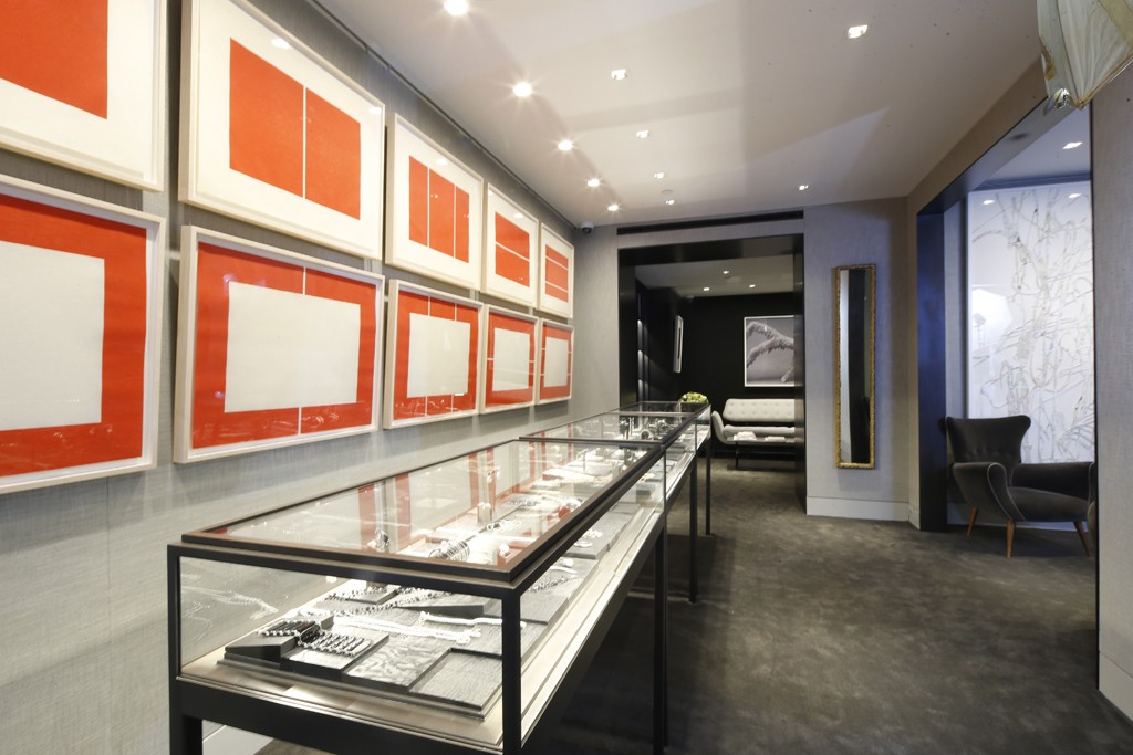 Inside the Sidney Garber New York store.