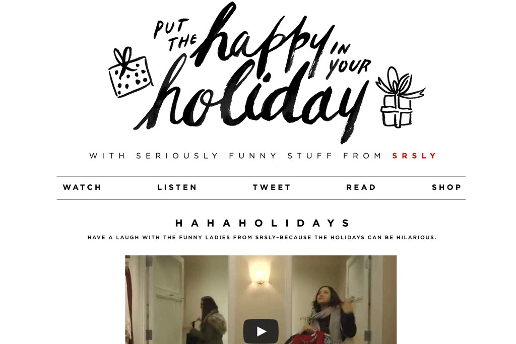 """A look at SRSLY and LOFT's """"Put the Happy in Your Holidays."""""""