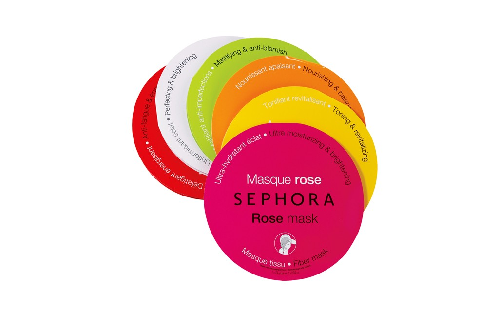 "Sephora: Sephora Collection Fiber Masks, ""Clients are drawn to their affordability and ease of use, and they appreciate options."" —Elizabeth Hayes, vice president/ divisional merchandise manager, Sephora Collection"