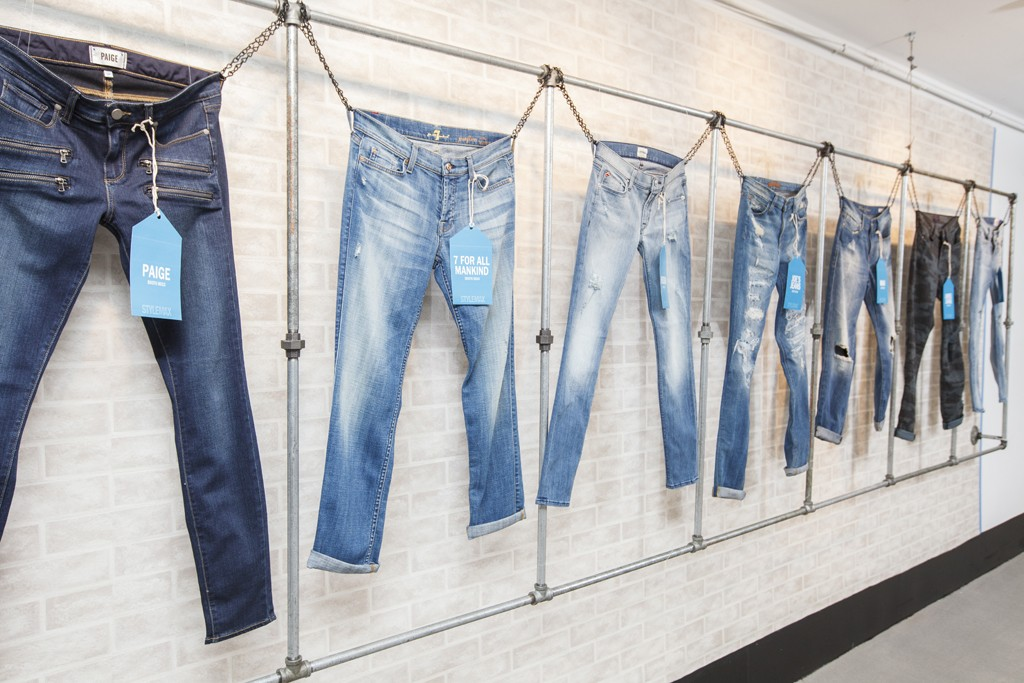 A denim display as Stylemax.