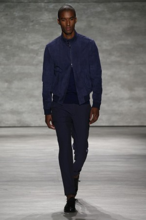 Todd Snyder shows on the runway in New York.