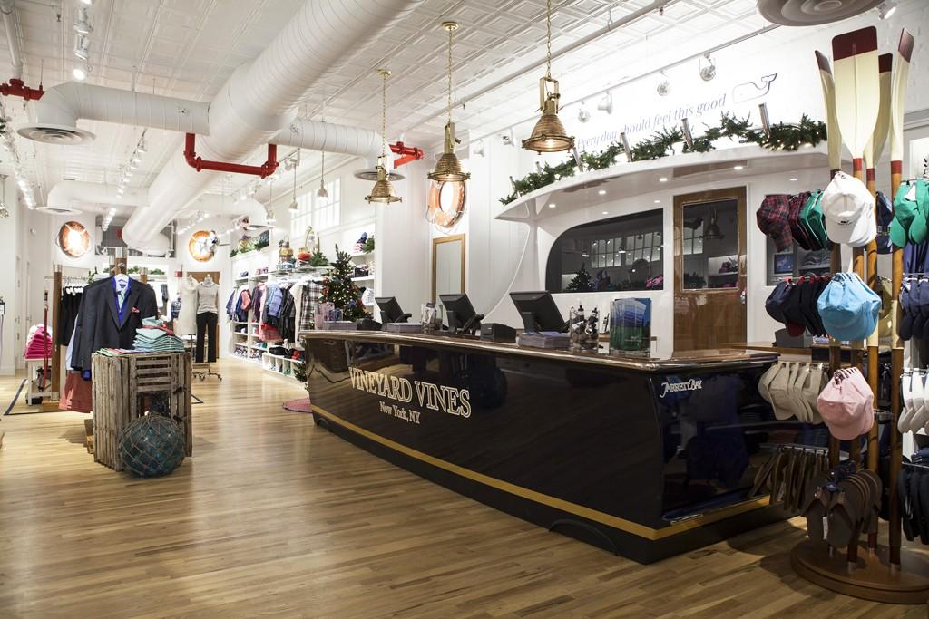Inside Vineyard Vines' Third Avenue store in Manhattan.