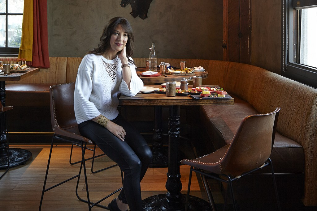 Leslie Blodgett in Coqueta, the San Francisco restaurant that she and her husband own with chef Michael Chiarello.