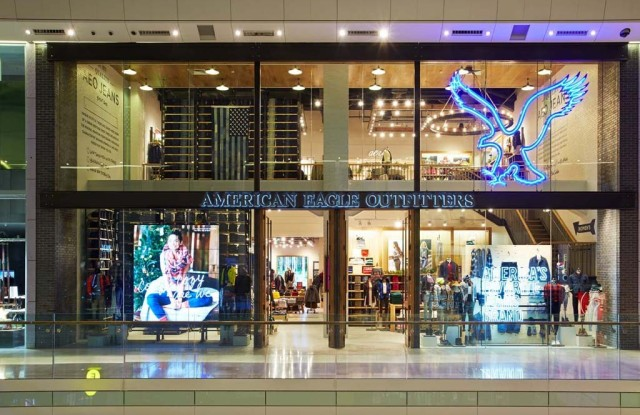 An American Eagle store.