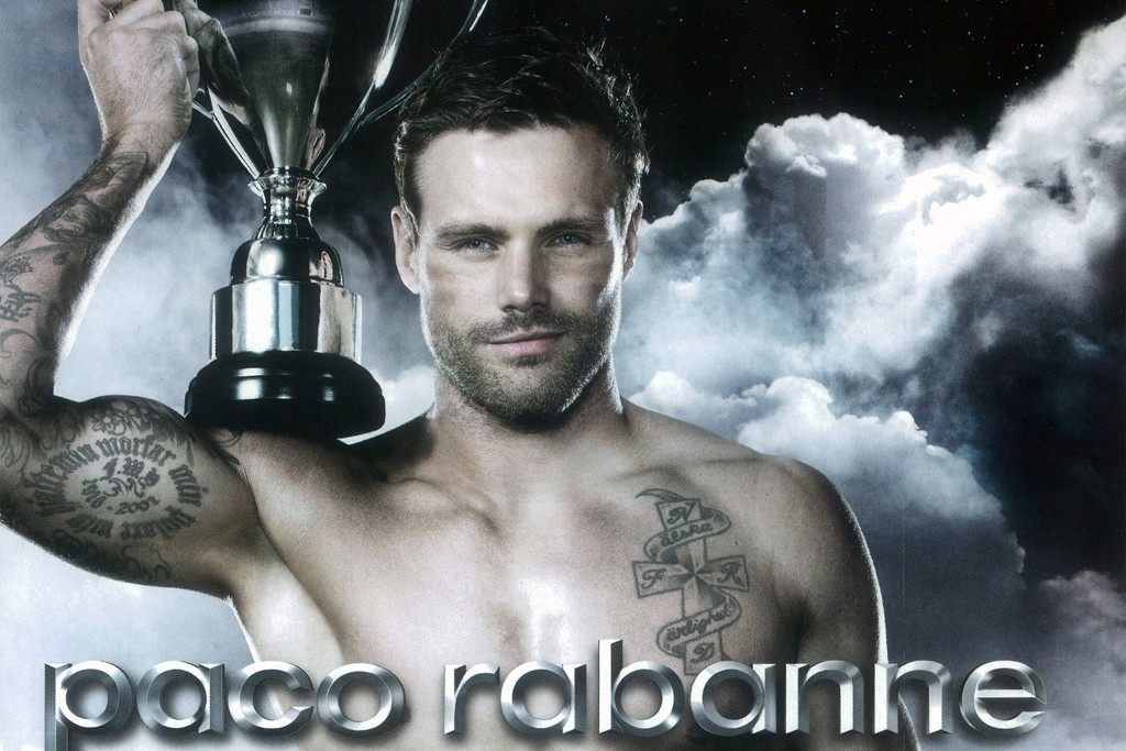 Former rugby player Nick Youngquest in a promotion for Paco Rabanne's Invictus fragrance.