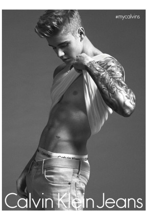 Justin Bieber for Calvin Klein.
