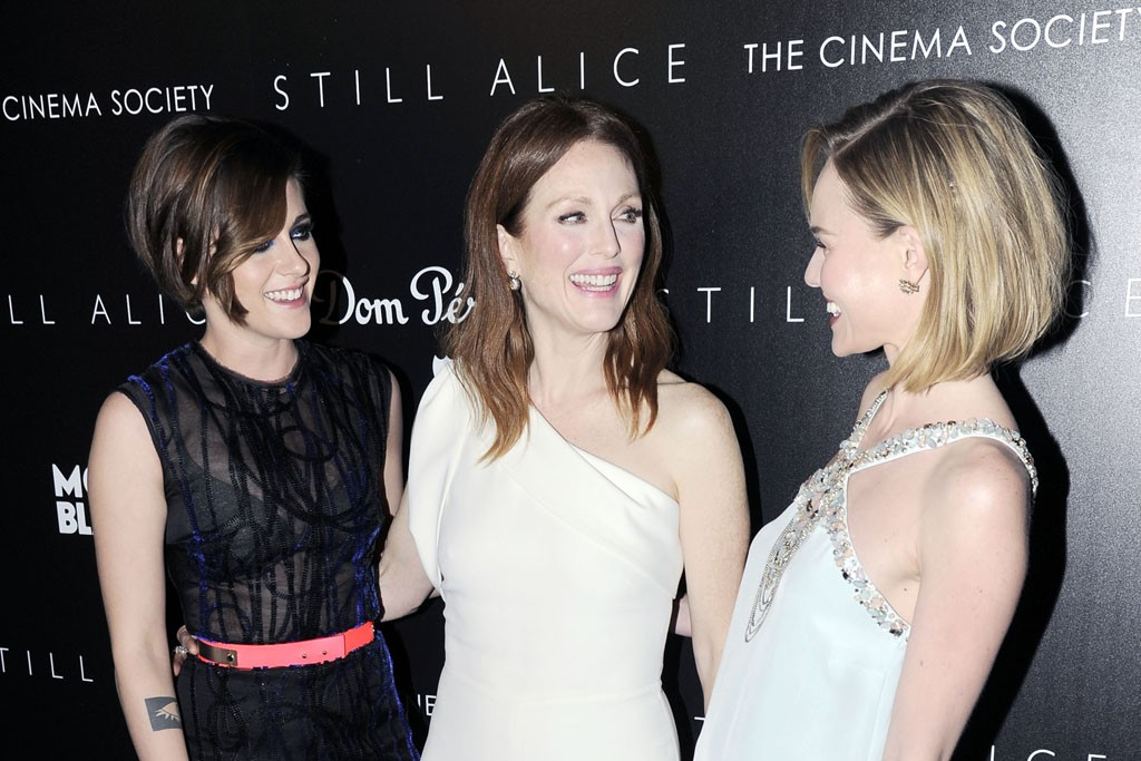 Kristen Stewart in Roksanda Ilincic, Julianne Moore in Alexander McQueen and Kate Bosworth in Oscar de la Renta.