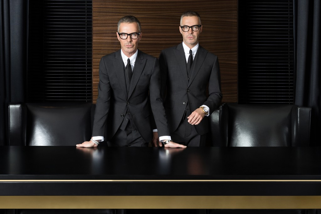 Dean and Dan Caten in their Milan office.
