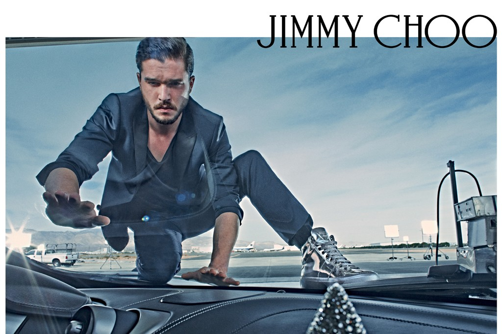 Kit Harington in Jimmy Choo's spring '15 campaign shot by Steven Klein.