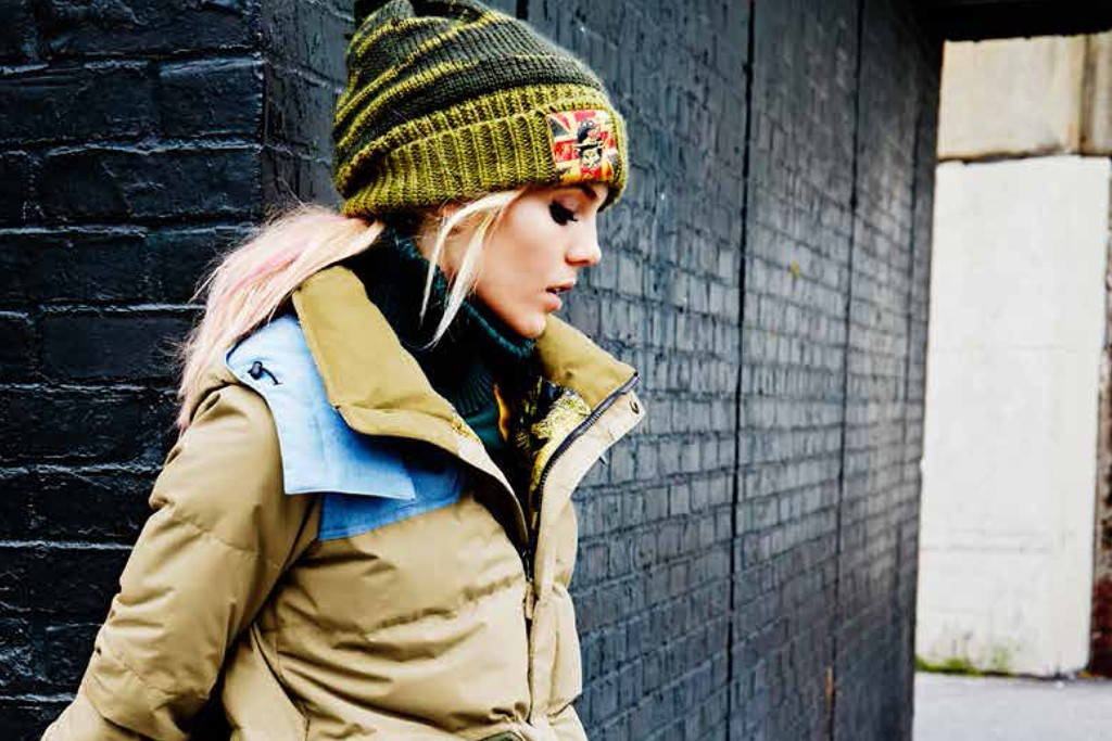 A look from L.A.M.B. and Burton's second capsule collection.