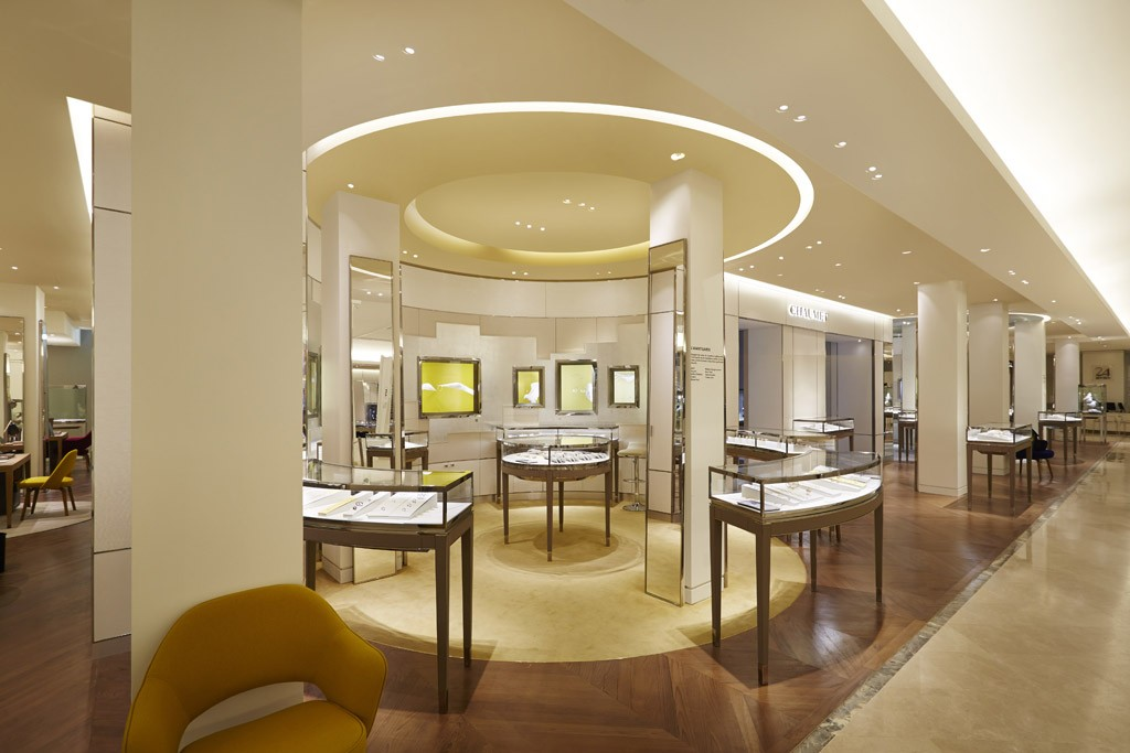The fine jewelry section at Le Bon Marché.