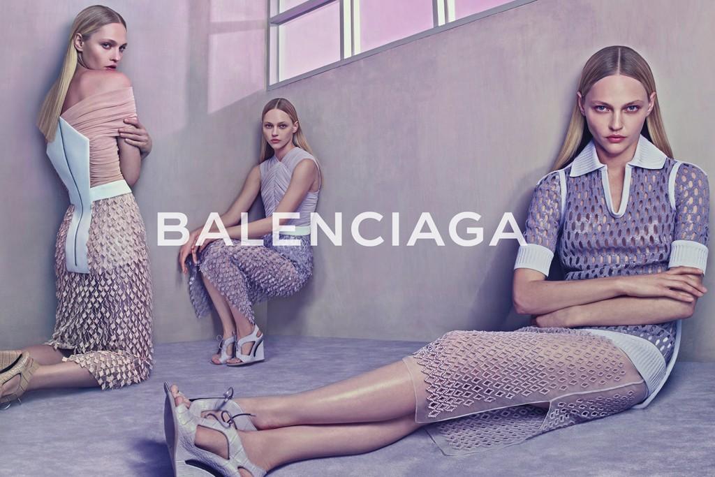 Sasha Pivovarova in Balenciaga's spring 2015 campaign.