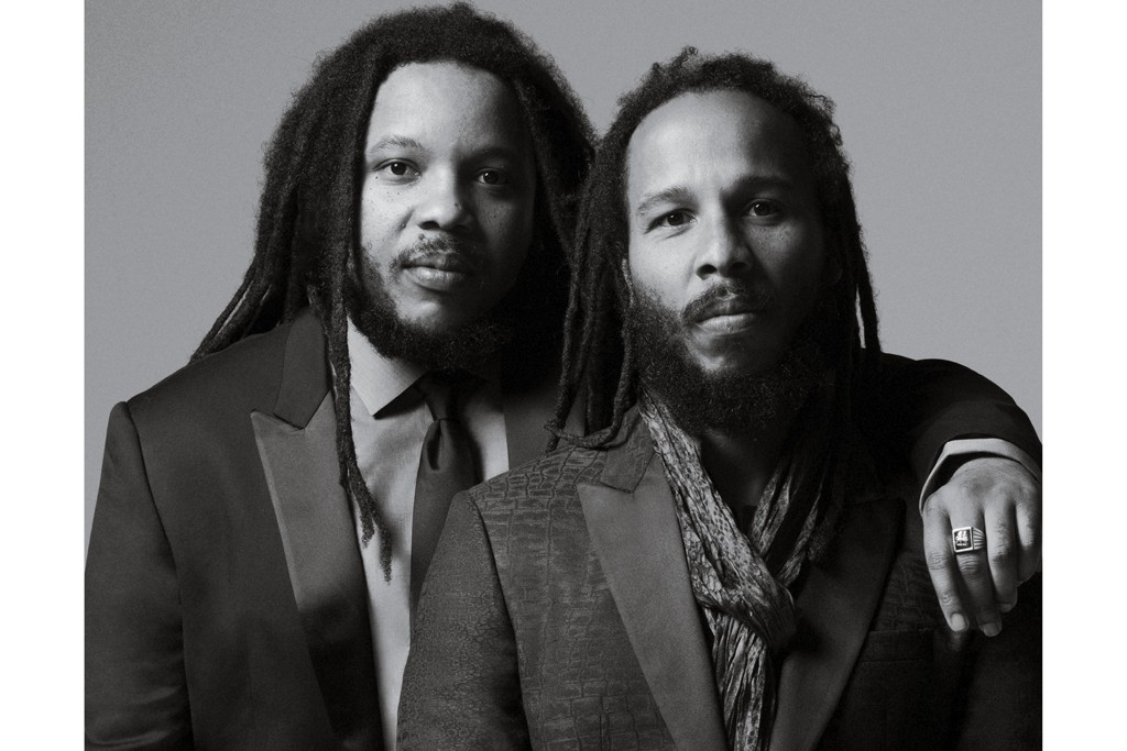 The John Varvatos Spring 2015 Campaign featuring Ziggy Marley and Stephen Marley.