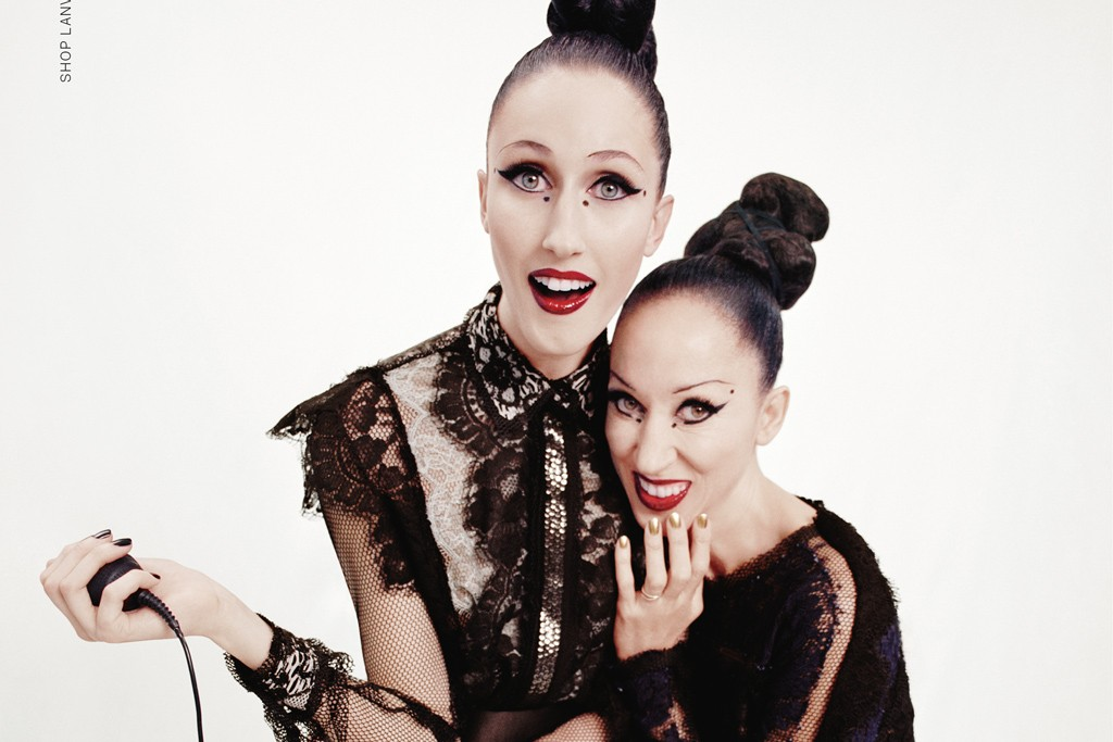 Anna Cleveland with Pat Cleveland in the Lanvin spring campaign.