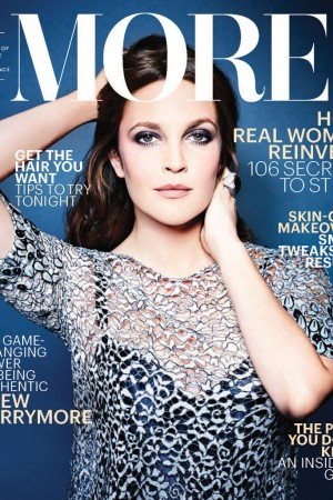 Drew Barrymore cover of the new More.