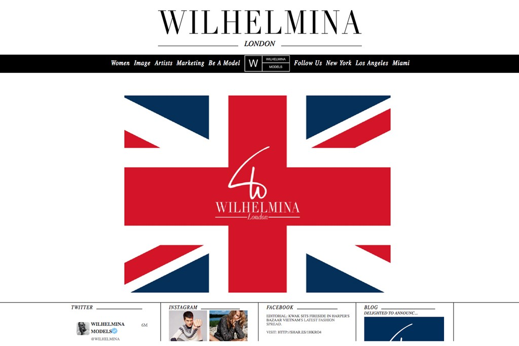 An image from Wilhelmina'a website.