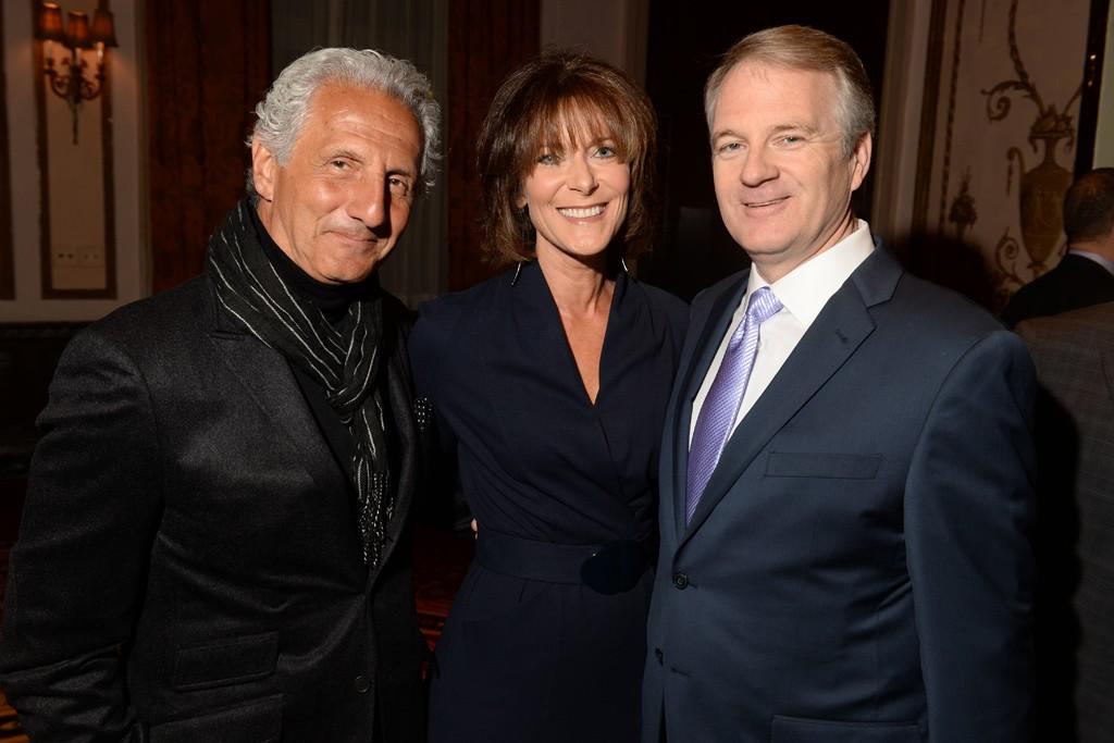 Joseph Abboud with Julie and Doug Ewert.