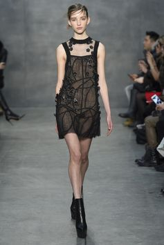 Vera Wang went dark and brooding for fall.  [Photo by Giovanni Giannoni]