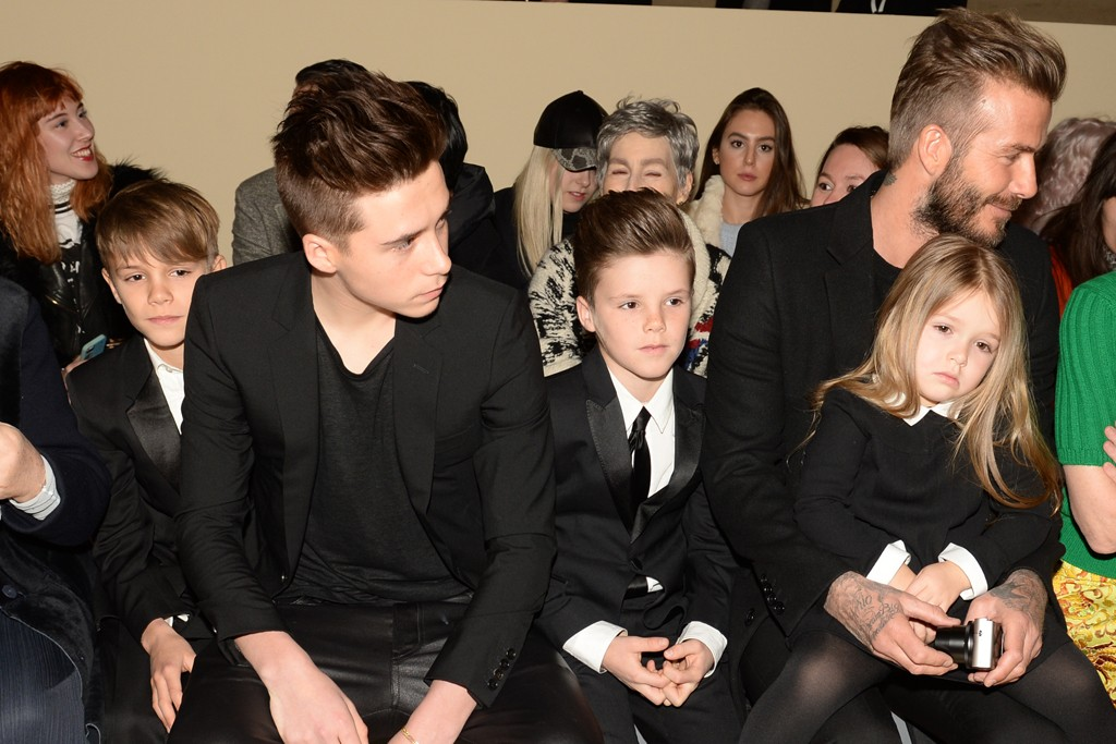 Romeo, Brooklyn, Cruz, David and Harper Beckham