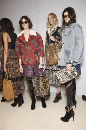 Backstage at Burberry RTW Fall 2015