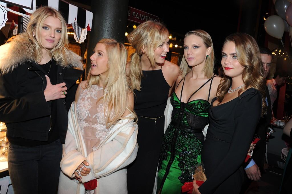 Lily Donaldson, Ellie Goulding, Karlie Kloss, Taylor Swift and Cara Delevingne.