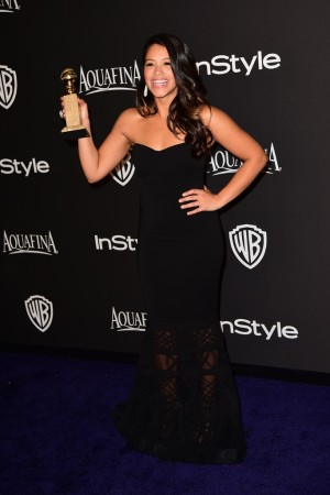 Gina Rodriguez at the InStyle Post-Golden Globe Party.