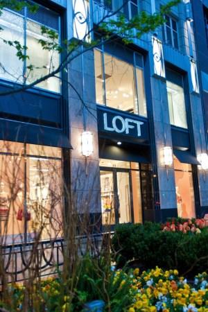 Loft store on Michigan Avenue in Chicago.