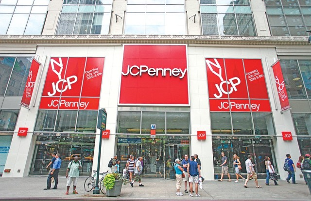A view outside the JC Penney store.