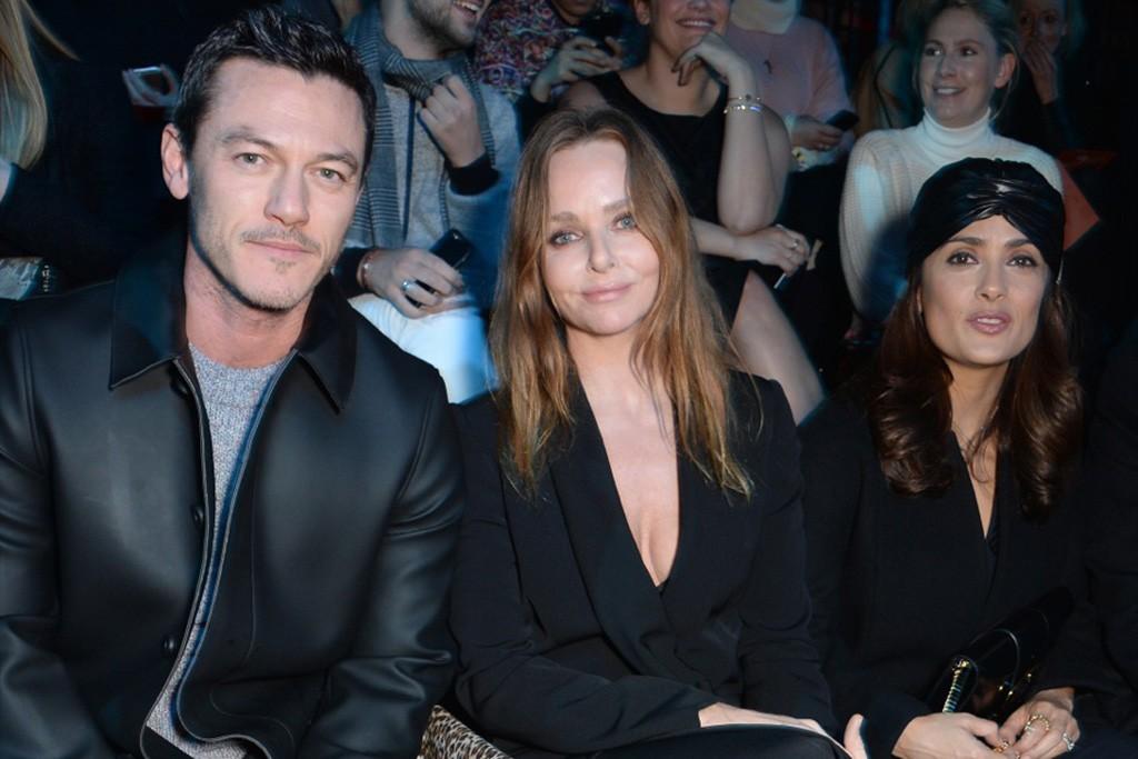 Luke Evans, Stella McCartney and Salma Hayek