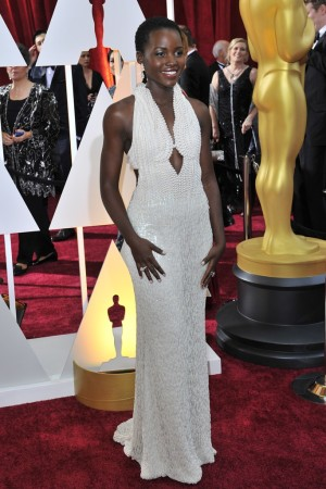 Lupita Nyong'o in Calvin Klevin Collection and Chopard.