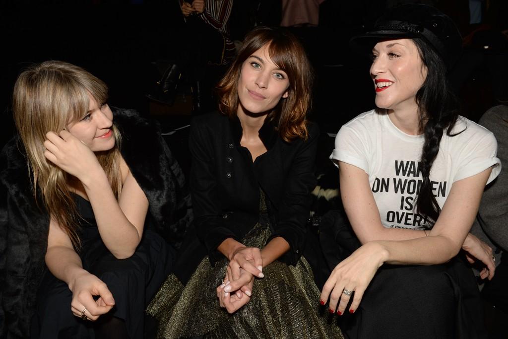 Tennessee Thomas, Alexa Chung and Sarah Sophie Flicker.