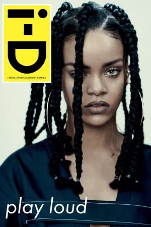 i-D's January cover featuring Rihanna.