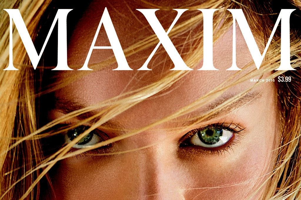 Maxim's March cover featuring Candice Swanepoel.