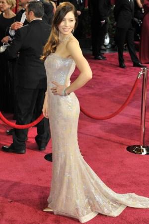 Jessica Biel in Chanel and Tiffany & Co.