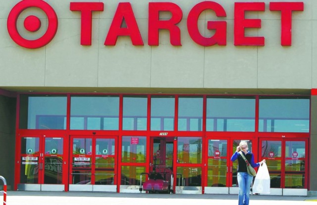 Target's online sales represent 3.4 percent of total sales.