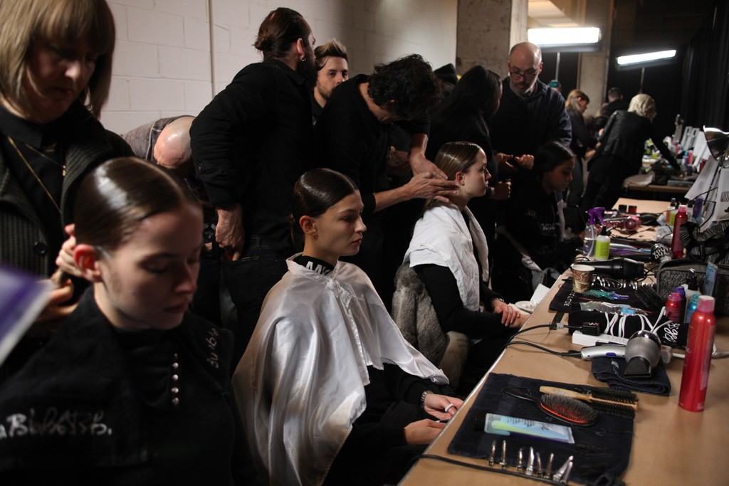 Backstage at Thom Browne RTW Fall 2015