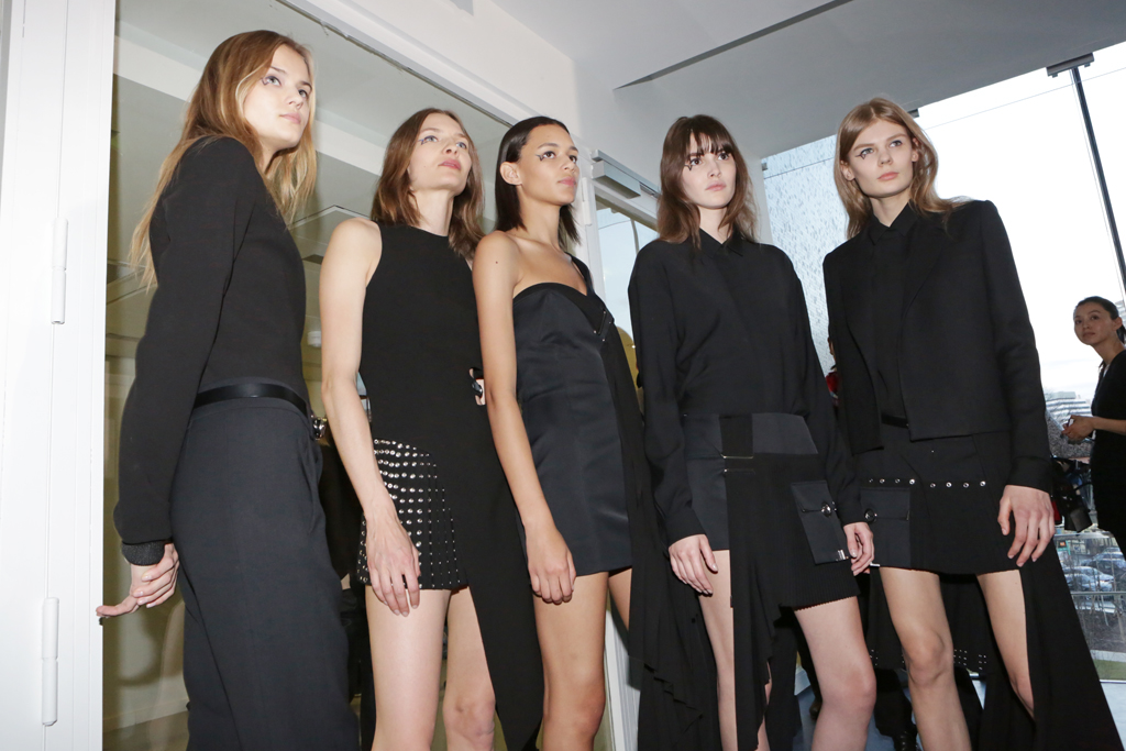 Backstage at Anthony Vaccarello RTW Fall 2015