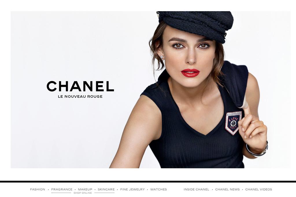The Chanel.com homepage.