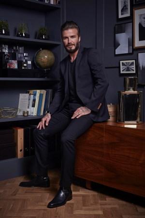 David Beckham celebrates 10th anniversary of Instinct fragrance.