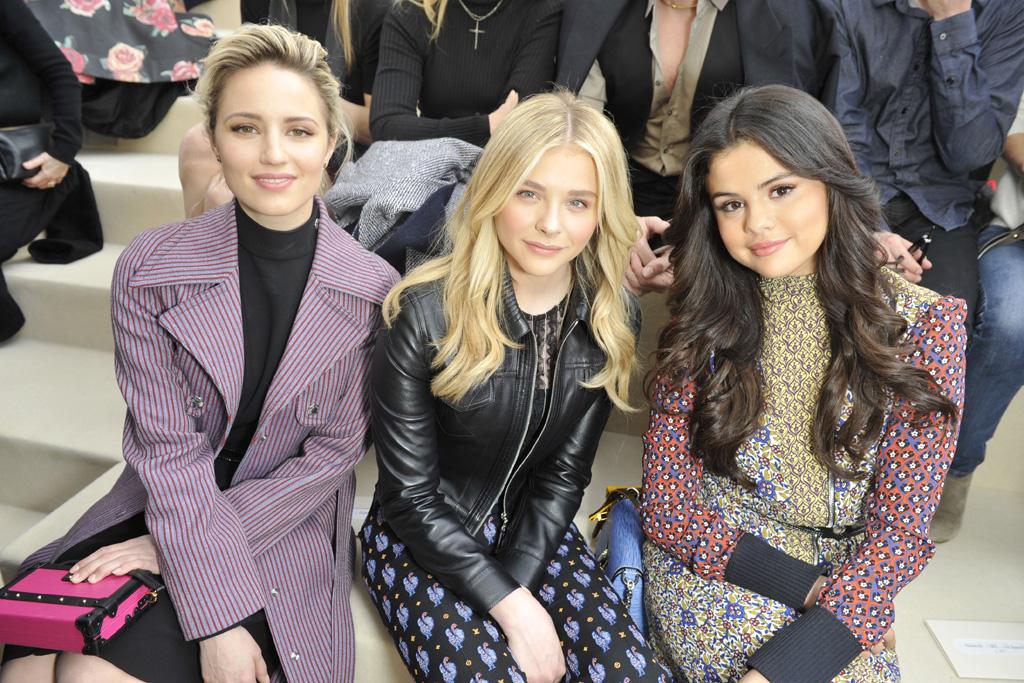 Dianna Agron, Chloë Moretz and Selena Gomez