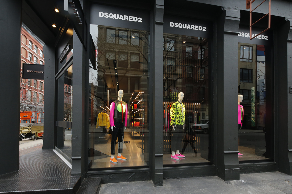 The new Dsquared2 store in SoHo.