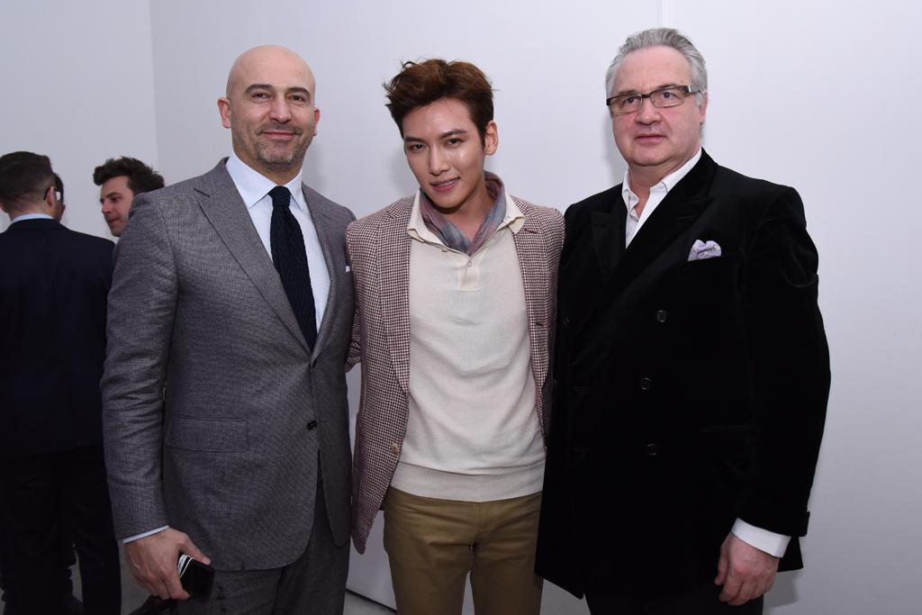 Dunhill ceo Fabrizio Cardinali, Korean Actor Ji Chang Wook and Dunhill designer John Ray.