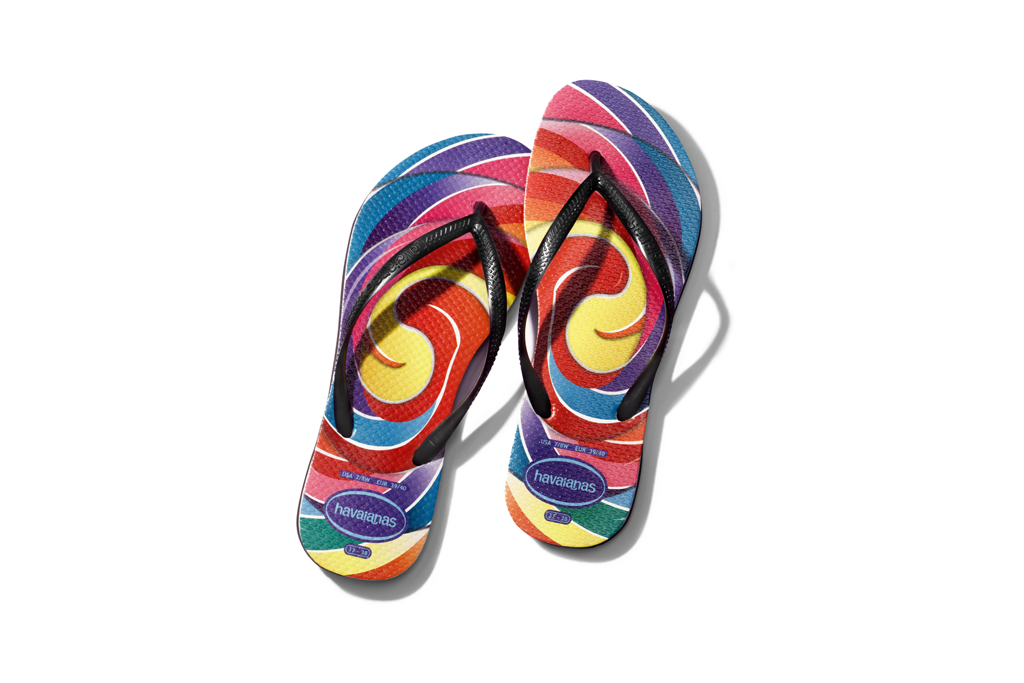 Flip-flops from Dylan Lauren's collaboration with Havaianas.