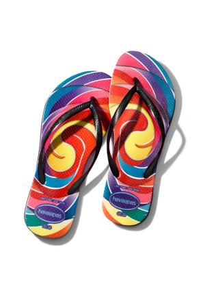 Flip-flops from Dylan Lauren's collaboration with Havaianas.