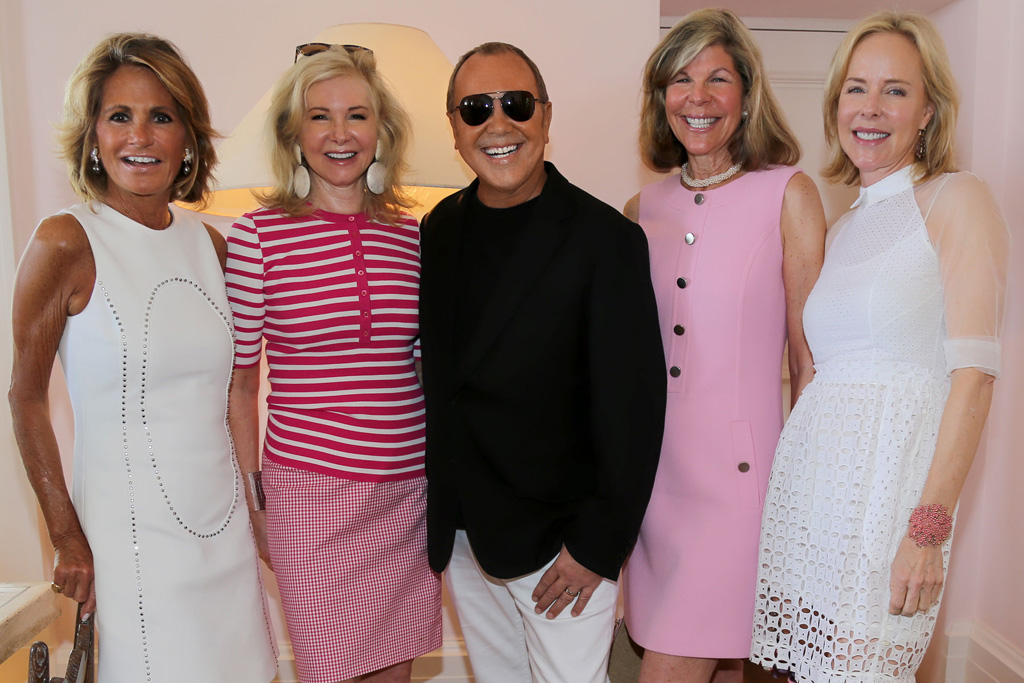 Grace Meigher, Hilary Geary Ross, Michael Kors, Jamee Gregory and Carol Mack.